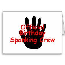 birthday spanking crew sign